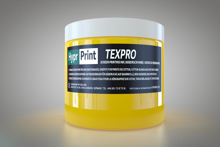 HyprPrint TEXPRO geel 250ml