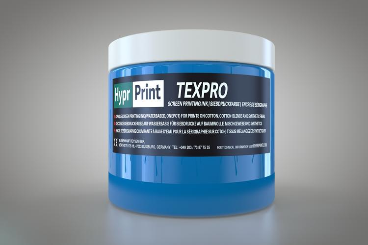 HyprPrint TEXPRO medium blauw 250ml