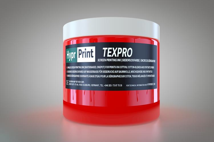 HyprPrint TEXPRO neon-rood 250ml