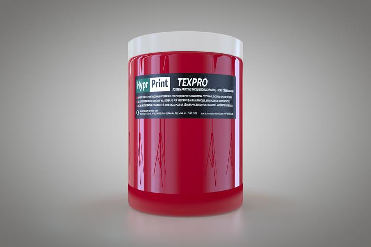HyprPrint TEXPRO framboos-rood 1 liter