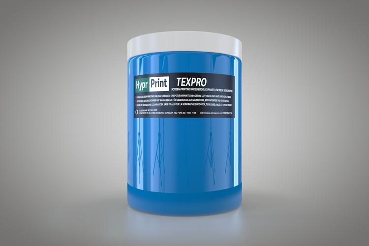 HyprPrint TEXPRO medium blauw 1 liter