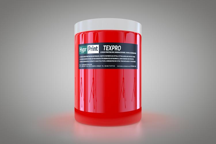 HyprPrint TEXPRO neon-rood 1 liter